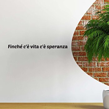 Sticker decorativ de perete Italian Wall, 262ITA1035, Negru de la Italian Wall