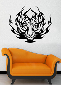 Sticker decorativ de perete Pushy, 246PHY5043, Negru