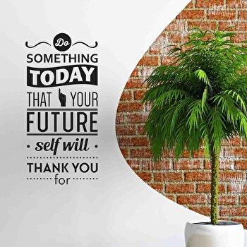 Sticker decorativ de perete Pushy, 246PHY7024, Negru