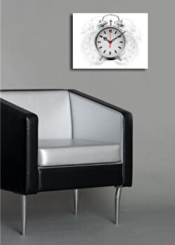 Ceas decorativ de perete Clock Art, 228CLA1627, Alb