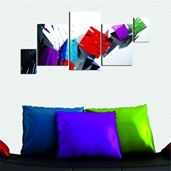 Tablou decorativ multicanvas Dilly 5 Piese, 222DLY1981, Multicolor de la Dilly