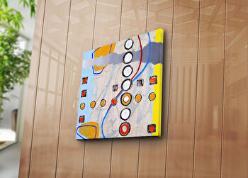 Tablou decorativ pe panza Canvart, 249CVT1216, 45 x 45 cm, Multicolor