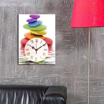 Ceas decorativ de perete Clockity, 248CTY1607, Multicolor de la Clockity
