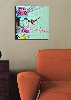 Ceas decorativ de perete Clock Art, 228CLA1616, Multicolor