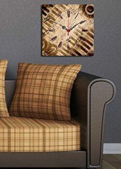 Ceas decorativ de perete Clock Art, 228CLA1620, Multicolor