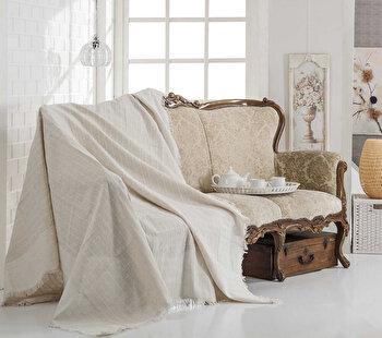 Patura canapea Eponj Home, 336EPJ0410, 180 x 230 cm, Alb de la Eponj Home