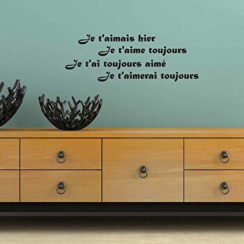 Sticker decorativ de perete French Wall, 753FRE1002, Negru de la French Wall