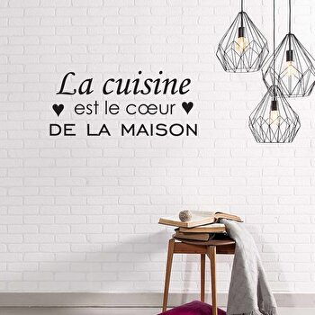 Sticker decorativ de perete French Wall, 753FRE1004, Negru de la French Wall