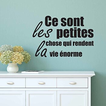 Sticker decorativ de perete French Wall, 753FRE1005, Negru de la French Wall