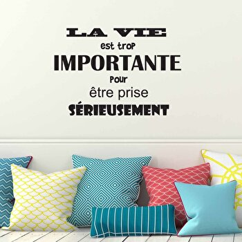 Sticker decorativ de perete French Wall, 753FRE1007, Negru de la French Wall