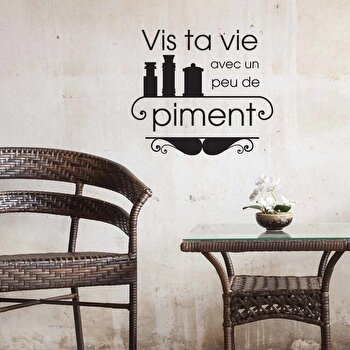 Sticker decorativ de perete French Wall, 753FRE1009, Negru de la French Wall