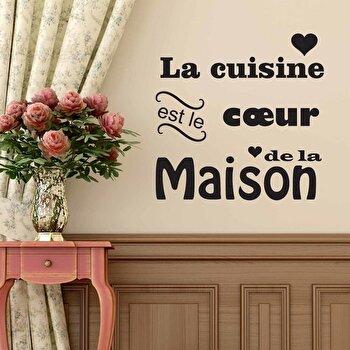 Sticker decorativ de perete French Wall, 753FRE1020, Negru