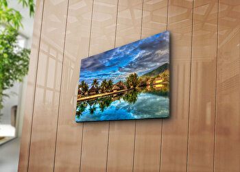 Tablou decorativ pe panza Horizon, 237HRZ3219, Multicolor