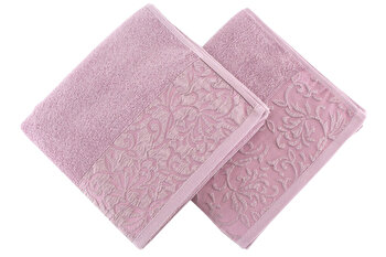 Set doua prosoape de maini, Soft Kiss, 330SFT1213, Roz