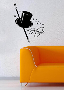 Sticker decorativ de perete Pushy, 246PHY1060, 35 x 45 cm, Negru