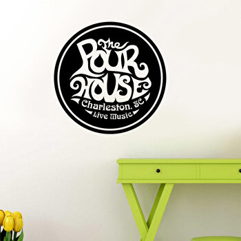 Sticker decorativ de perete Pushy, 246PHY1090, 40 x 40 cm, Negru