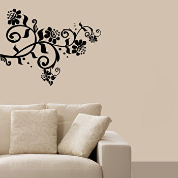 Sticker decorativ de perete Pushy, 246PHY1099, Negru