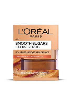 Scrub exfoliant cu zahar pentru ten tern L'Oreal Paris Smooth Sugars, 50 ml de la L Oreal Paris
