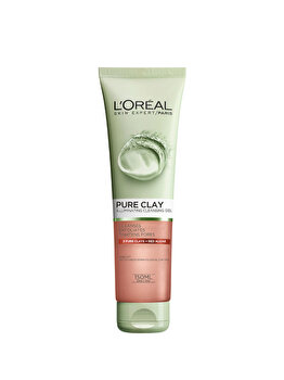 Gel de curatare exfoliant pentru fata L'Oreal Paris Pure Clay, 150 ml de la L Oreal Paris