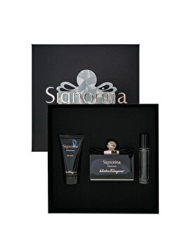 Set cadou Salvatore Ferragamo Signorina Misteriosa (Apa de parfum 100 ml + Lotiune de corp 50 ml + Apa de parfum 10 ml), pentru femei