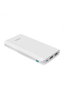 Acumulator extern Romoss, PHP10-401-02, Sense 10, 10000 mAh, iesire dual USB, Li-Polymer, Alb de la Romoss