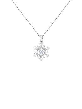 Colier cu pandantiv Diamond Style SNOWFLAKEPEN poza