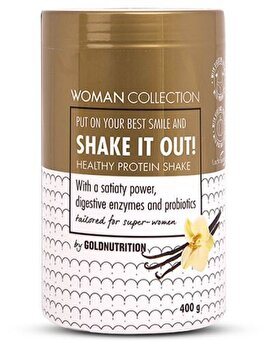 Woman Collection Shake It Out – Pudra proteica Vanilie 400 g de la GoldNutrition