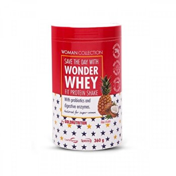 Woman Collection Wonder Whey Pina Colada 360 g de la GoldNutrition