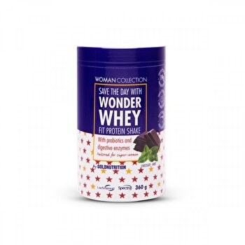 Woman Collection Wonder Whey Ciocolata si menta 360 g de la GoldNutrition