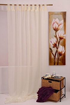 Perdea Mendola Fabrics Bretagne, 10-14BRETAGNE, Poliester 100 procente, 140 x 245 de la Mendola Fabrics