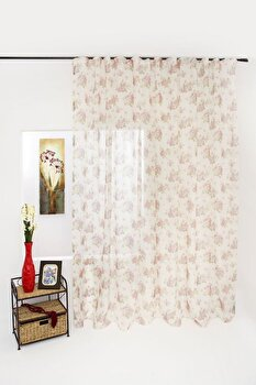 Perdea Mendola Fabrics Blanca, 10-175BLANCA, Poliester 100 procente, 300 x 245