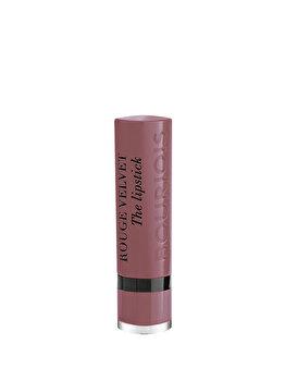 Ruj de buze Bourjois Rouge Velvet The Lipstick, 17 From Paris With Mauve, 2.4 g de la Bourjois