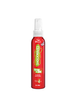Gel spray pentru texturare Wella SHOCKWAVES Texture N 'Shine, 150 ml de la Wella
