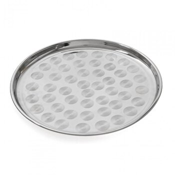 Tava pentru servire Vanora VN-SNS-TPP-16, 35 cm, din metal, argintiu de la Vanora