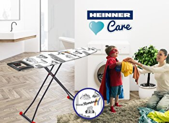 Masa de calcat Heinner HR-DGR-004, 42×125 cm, alb de la Heinner