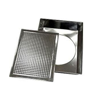 Tava pentru cuptor Vanora VN-POL02-29, 36x23x6 cm, din metal, argintiu de la Vanora