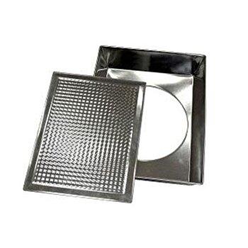 Tava pentru cuptor Vanora VN-POL02-29, 36x23x6 cm, din metal, argintiu