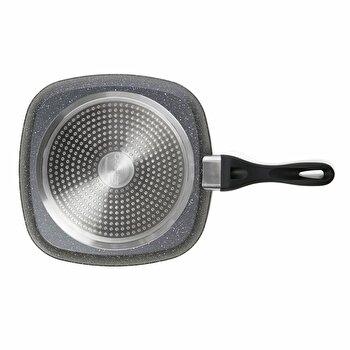 Tigaie grill Heinner HR-BET-001, 28 cm, din aluminiu, argintiu