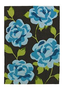 Covor Decorino Floral C03-211365, Maro/Verde/Albastru, 120×170 cm de la Decorino