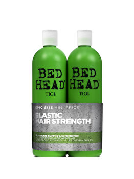 Set cadou Tigi Bed Head Elasticate Strengthening Sampon 750ml + Balsam 750ml de la Tigi