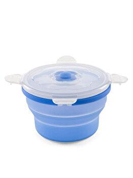 Nuvita – Recipient pliabil hrana, silicon, 540 ml, albastru de la Nuvita