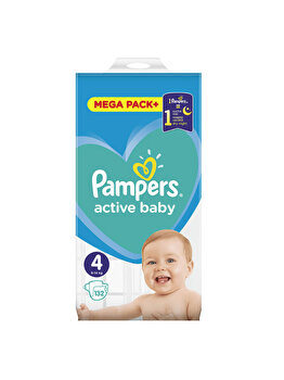 Scutece Pampers Active Baby Maxi 4 Mega Box,9-14 Kg, 132 buc