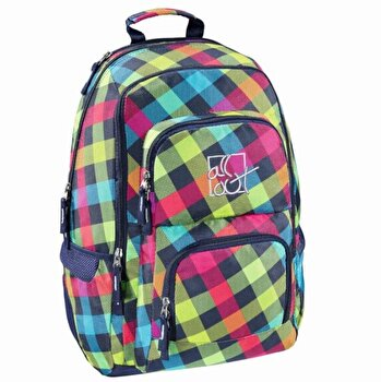 All Out – Rucsac scolar Louth Rainbow Check, 13x45x31 cm de la Hama