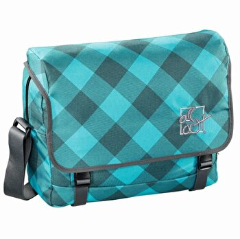 All Out – Geanta de umar Barnsley Blue Dream Check, 39x12x30 cm de la Hama
