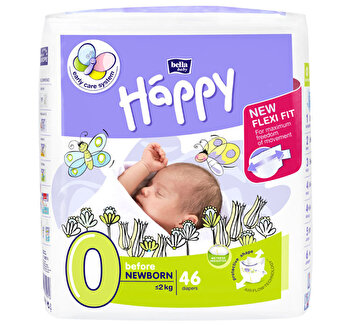 Scutece Happy Before New Born, 0-2 kg, 46 bucati de la Happy