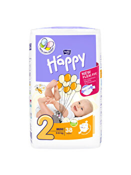 Scutece Happy Mini, 3-6 kg, 38 buc de la Happy