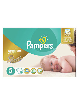 Scutece Pampers Premium Care Junior 5 Mega Box, 11-18 kg, 88 buc de la Pampers
