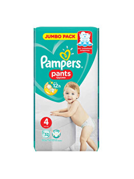 Scutece-chilotei Pampers Active Baby Maxi 4 Jumbo Pack, 9-15 kg, 52 buc de la Pampers