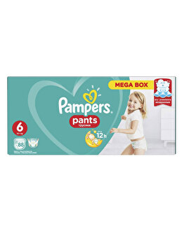 Scutece-chilotel Pampers Active Baby Extra large 6 Mega Box, +15 kg, 88 buc de la Pampers