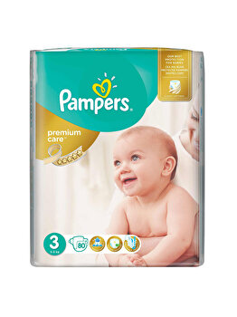 Scutece Pampers Premium Care Midi 3 Jumbo Pack, 5-9 kg, 80 buc de la Pampers